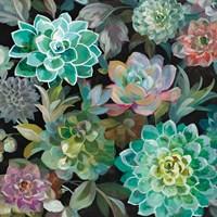Floral Succulents v2 Crop Fine Art Print