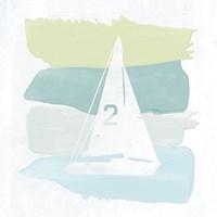 Seaside Swatch Sailboat Fine Art Print