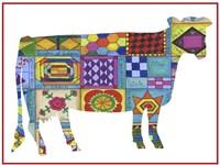 Friendship Quilt Folk Art Cow Fine Art Print