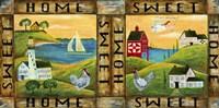 Home Sweet Home Country Folk Art Fine Art Print