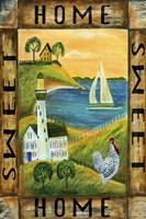 Home Sweet Home Seaside Flag Fine Art Print