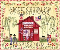 American Schoolhouse ABC 123 Fine Art Print