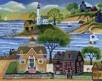 Americana Seaside Lighthouse Fine Art Print