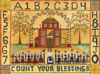 Count Your Blessings School Sampler Fine Art Print