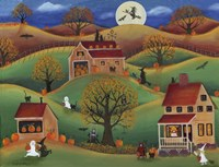 Halloween Autum Pumpkin Farm Fine Art Print