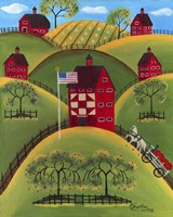 Red Apple Quilt Barns Fine Art Print