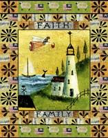 Angel American Faith Family Fine Art Print