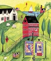 Faith Family Red Farmhouse Fine Art Print