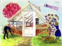Greenhouse Gardeners Fine Art Print