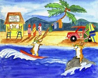 Corgi Surfers Club Fine Art Print