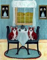 Doggie Tea Time Fine Art Print