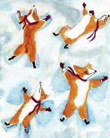 Snow Angel Dogs Fine Art Print