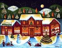 P.W. Corgi Christmas Shop Fine Art Print