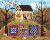 Mama's Corgi Quilt Farm Fine Art Print
