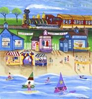 Surf Swim Sail Train Ride Fine Art Print