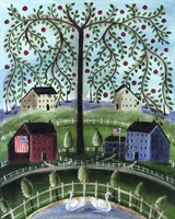 American Salt Box Village Fine Art Print