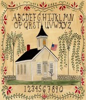 American School House Fine Art Print