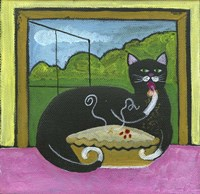 Kitty Likes Cherry Pie Fine Art Print