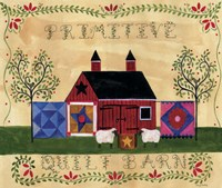 Primitive Quilt Barn Sampler Fine Art Print