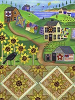 Sunflower Quilt Farm Fine Art Print