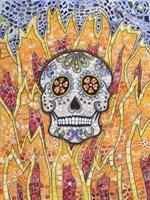 Burning Skull Fine Art Print