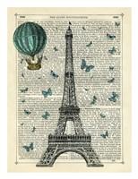 Eiffel Butterflies Fine Art Print