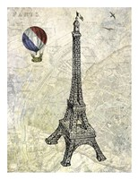 Eiffel Map Fine Art Print