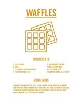 Waffle Recipe Yellow on White Fine Art Print