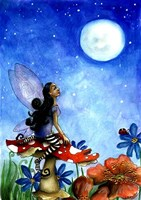 Fairy On A Toadstool Fine Art Print