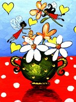 Flower Arranging Fairies Fine Art Print