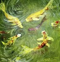Koi Fish Pond Fine Art Print