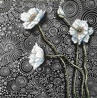 White Poppies 2 Framed Print