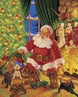 Santa Pups Fine Art Print