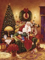 Santa Sleeping Fine Art Print