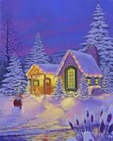 Xmas Cabin Fine Art Print