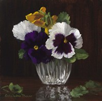 Four Pansies Fine Art Print