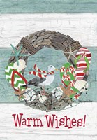 Coastal Christmas Warm Wishes Fine Art Print