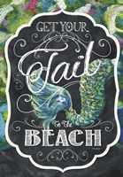 Get Your Tail to the Beach Fine Art Print