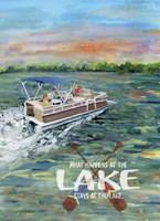 What happens at the Lake Fine Art Print