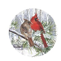 Winter Wonder Cardinal Couple Fine Art Print