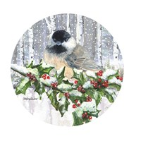 Winter Wonder Chickadee Fine Art Print