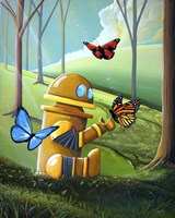 Bot and the Butterflies Fine Art Print
