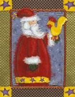 Santa & Bird Fine Art Print