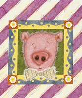 Pig in Bow Tie Fine Art Print