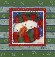 Scarf Snowman 2 Fine Art Print