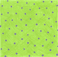 Green Polka Dots Fine Art Print