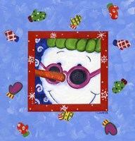 Snowman Glasses Fine Art Print
