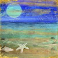 Turquoise Moon Night Fine Art Print