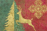 Xmas Tree and Deer Fine Art Print