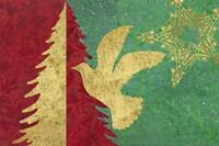 Xmas Tree and Dove Fine Art Print